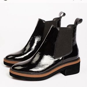 Free people Caleb patent leather bootie Chelsea